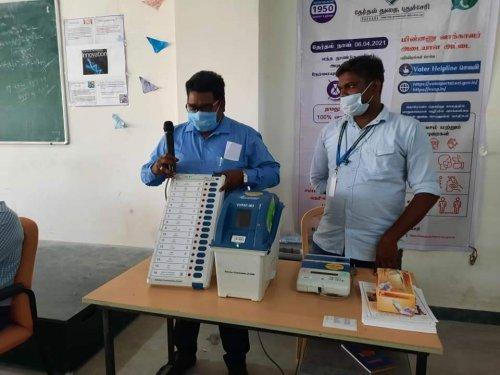 Electronic Voting Machine Training